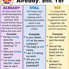 How to Use Already, Still, Yet in English - English Grammar Here