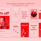 Download Instagram Stories Template For Valentine's Day for free