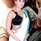 Kareena Kapoor in black blouse and white saree