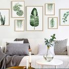 Delicate Nordic Style Pastoral Green Plant Leaves Modern Minimalist Decorative Painting Wall Decal   Wish