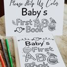 DIY Woodland ABC Group Activity for Book Themed Baby Shower, Alternative Guest Book, Alphabet Colori