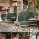 White garden restaurant and lounge in Riyadh, Saudi Arabia by Insignia Design Group