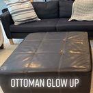 Reupholstered ottoman- furniture flip