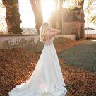 Elopement wedding dress satin Courthouse wedding dress empire | Etsy