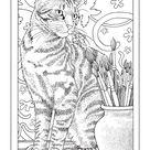 Inkijkexemplaar Franciens kattenkleurboek om te versturen - Francien van Westering