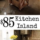 Kitchen Island Inspired by Pottery Barn!