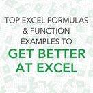 Advanced Excel Formulas & Functions Examples | MyExcelOnline