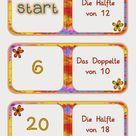 Mathe-Domino - Das Doppelte und die Hälfte