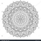 Flower Mandala Vintage Decorative Elements Oriental Stock Vector (Royalty Free) 449836474