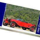 Alfa Romeo 6C 1500 Sport Zagato Spider, 1928, Red. 1000 Piece Puzzle. Alfa Romeo 6C 1500 Sport Zagato Spider 1928 Red.