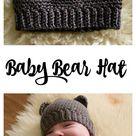 The Cutest Crochet Baby Bear Hat - Free Pattern