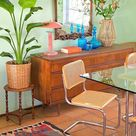 In Bohemian style interior, the