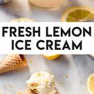 Fresh Lemon Ice Cream