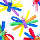 Colorful Paper Strip Butterflies | Our Kid Things