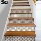 Kitchen Bathroom Wall Stair Riser Tile Decals Vinyl Sticker   Moroccan BrownMix Fmix6