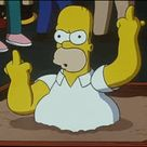 Homer Simpson Middle Finger GIF - Find & Share on GIPHY