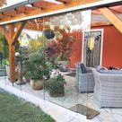 Glasschiebewände für Holz Terrassendach