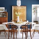 """Ginny Macdonald Design on Instagram: """"• stiffkey blue • Dining room reveal happened today on @em_henderson's blog. And that map, I found that here in Venice  and that's my home…"""""""