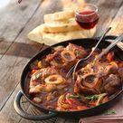 Osso Bucco mit geschmorten Gemüse und Tomate Rezept - leckere Rezepte bei |real-markt.de