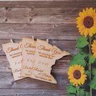50 Wedding Favor, Minnesota Wedding Favor State Magnets - Bride, Groom, Gift, Save the Date, Rustic, Custom, United States Magnets