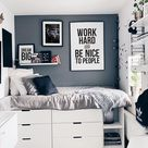 teen boy bedroom decor,  young & masculine bedroom decor ideas, motivational decor ideas, gym poster