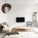 Living Room Ceiling Chandelier, Industrial Contemporary Wood Pendant Light, Hanging Interior Lamp