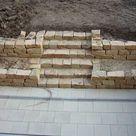 Terrasse, Trockenmauer, Treppe