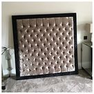 6FT Superking x 6FT High Wall Mounted Chesterfield Upholstered Wallboard  - Fabric Of Your Choice