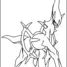 Arceus Coloring Page