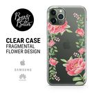 Flowers case Peony Pattern Gift for her Transparent Clear iPhone 13 phone case iPhone 13 PRO iPhone 12 iPhone 11 iPhone 13 MINI