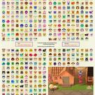 All 391 ACNH Villager Portraits with Names