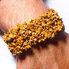 Camel Jasper Gemstone Stretch Chip Bracelet -  Protection Bracelet -  Healing Bracelet - Grounding a