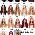 Hair color chart for human hair wigs