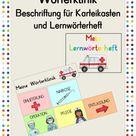 Wörterklinik / Beschriftung für Karteikasten und Lernwörterheft – Unterrichtsmaterial im Fach Deutsch