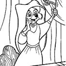 Lady Marian Waving A Flag For Robin Hood Coloring Pages