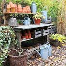 Fall Potting Bench Makeover - North Eastern Group Realty