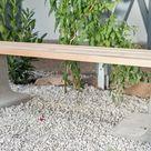 Gartenbank aus Beton und Holz selber bauen