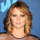 Jennifer Lawrence short hair dark blonde ginger