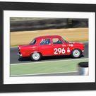Large Framed Photo. CM18 5449 Tom Shephard, Alfa Romeo Giulietta