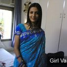 Indian Cute Girl in Blue Saree