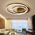 Flush Mount LED Ceiling Light Modern Simple Metal + Acrylic Spray ...