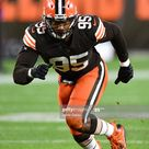 Myles Garrett of the Cleveland Browns in action against the...