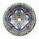 Orientalisches Handbemaltes Keramik Waschbecken Fes50