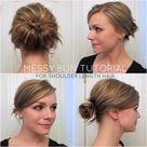 Messy Bun for Shoulder Length Hair