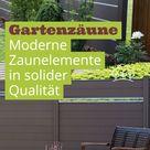 Gartenzäune   Moderne Zaunelemente in solider Qualität