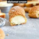 How to make vanilla bean cream puffs with vanilla diplomat cream