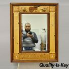 Hudson River Inlay Marquetry Inlaid Concerto Classic Beveled Glass Mirror