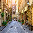 Narrow Street Florence Tuscany Italy Architecture Stock Photo (Edit Now) 1069236374