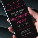 Halloween Invitation, Squid Game Inspired, Editable Template, Electronic Invitation, Digital Invite