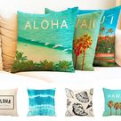 Pillow Covers Throw Pillow Cases Hawaii for Sofa Bed Cushion Cover Bedding Gift Home Decor